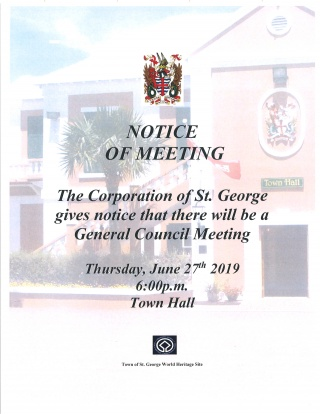 CORPORATION OF ST. GEORGE GENARAL MEETING - JUNE 28th
