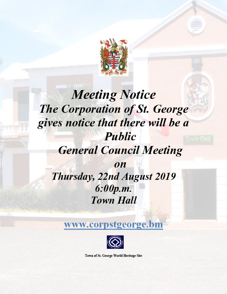 August 22, 2019 - General Council Meeting