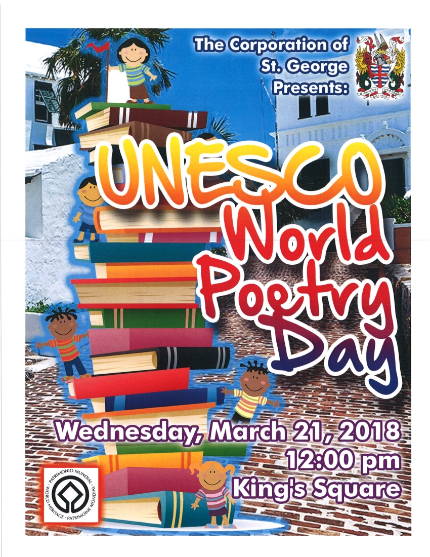 UNESCO POETRY DAY - MARCH 21ST, 2018
