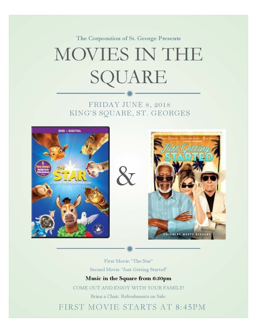 MOVIES ON THE SQUARE - JUNE 8TH