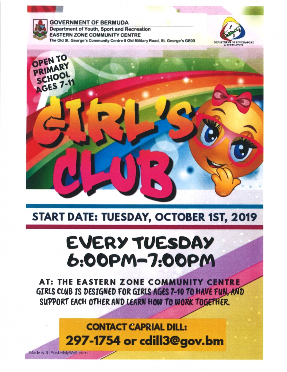 EASTERN ZONE COMMUNITY CENTRE - GIRL'S CLUB