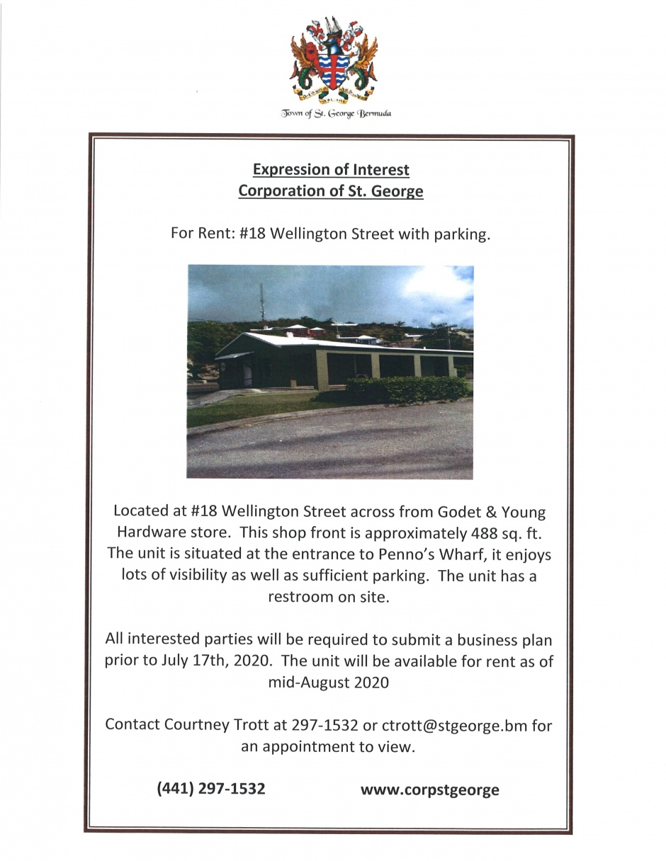 EXPRESSION OF INTEREST - #18 WELLINGTON STREET